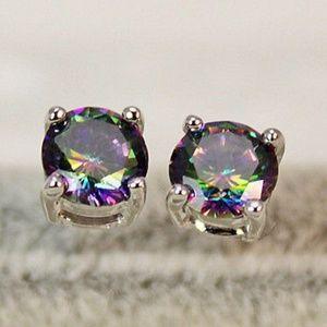 Jewelry - Round Mystic Topaz Earrings